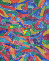 Original Painting by Carol Young - Colorful Abstract