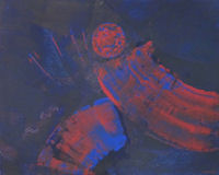 Original Painting by Carol Fincher - Abstract of Football Players