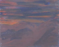 Original Painting by Carol Fincher - Soft Sunset Just Before Nightfall