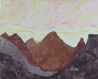 Original Painting by Carol Fincher - Mountains in the Desert