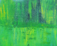 Original Painting by Carol Fincher - Green Waters Green Trees