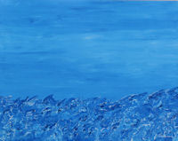 Original Painting by Carol Fincher - A Wild Blue Sea
