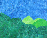 Original Painting by Carol Fincher - Green Mountains of Hawaii