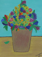 Original Painting by Carol Fincher-Young - Vase of Flowers