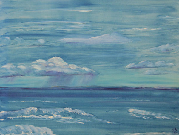 Original Oil Painting by Grace Moore - Seascape