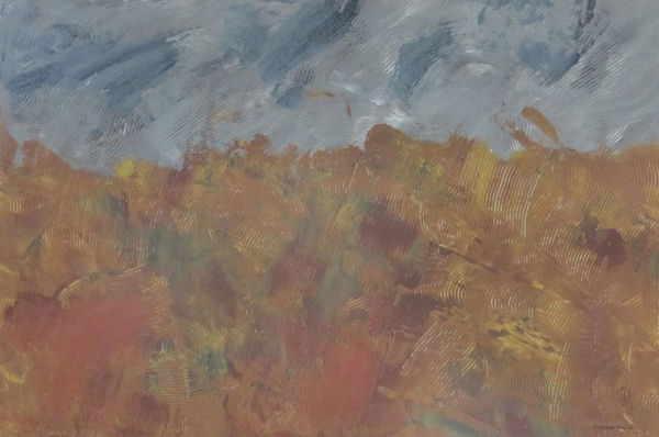 Original Painting by Carol Young - Abstract in Browns and Grays