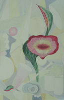 Original Oil Palinting by Grace Moore - Stylized Abstract Flower